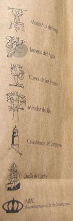 Los principales puntos tur�sticos de Lanzarote.