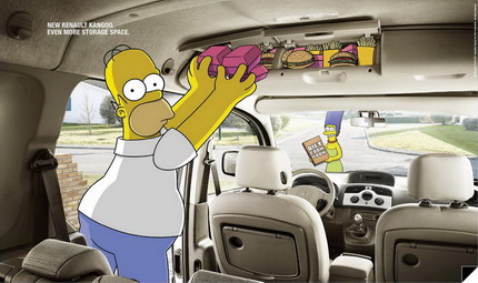 Spot Renault Kangoo, Los Simpsons,Francia