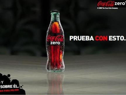 banner coca cola zero