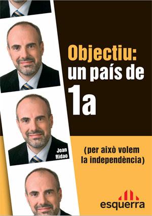 Cartel ERC Esquerra Republicana de Catalunya elecciones generales 2008
