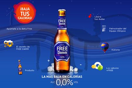 Cerveza Free Damm web site, cuento calor�as, tengo un don