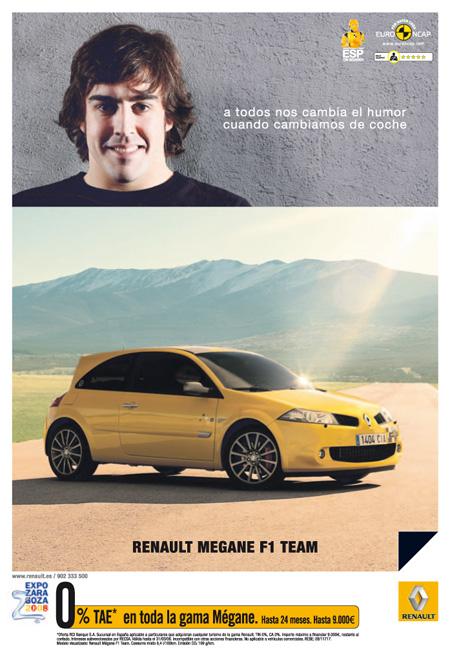 Renault Megane F1 Team Fernando Alonso Gráfica anuncio