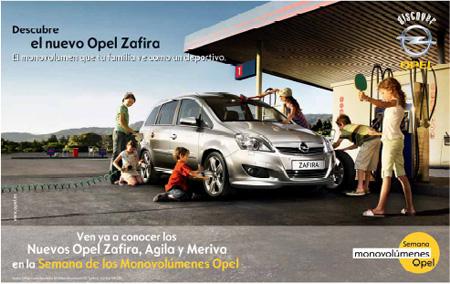 Nuevo Opel Zafira 2008 gráfica publicidad