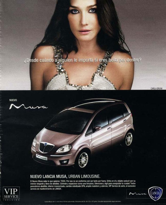 SNIPER: Publicidad Nro.146: Lancia Musa. Desde cuando a alguien le importa  si eres bella por dentro???