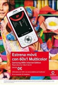 Gráfica Vodafone Tarifa Vitamina 60x1 a Todos, pa�s multicolor
