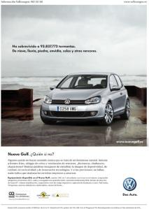 volkswagen golf 6 anuncio grafica