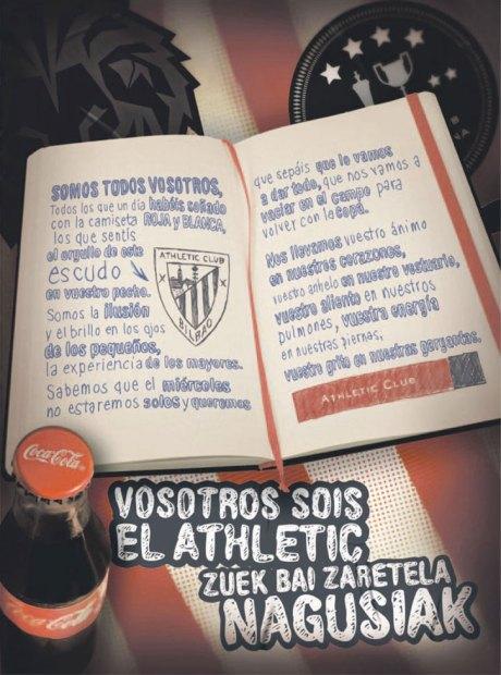 athletic cocacola 10 mayo publicidad