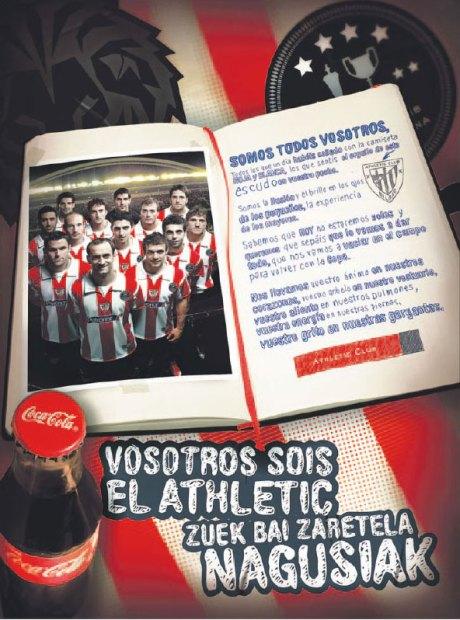 athletic cocacola 13 mayo publicidad final copa