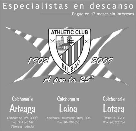 athletic colchonería 11 mayo publicidad final copa
