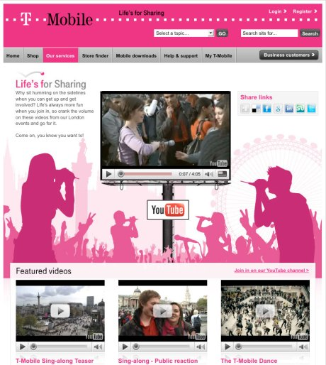 t-mobile lifes for sharing web