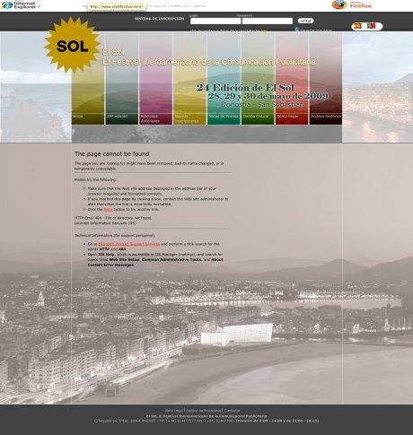festival de publicidad el sol 2009 web site