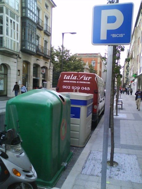 parking bici valladolid españa